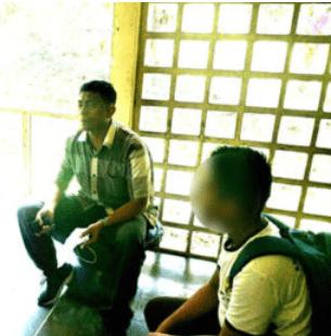 Siswa SMA di Parapat pelaku cabul saat dimintai keterangan.