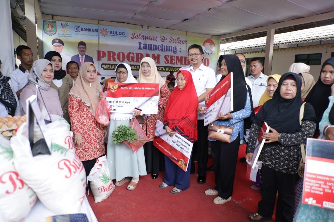 Pemkab Asahan melalui dinas sosial Launching Program Sembako.
