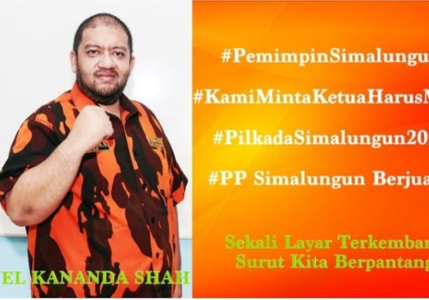 Ketua MPC Pemuda Pancasila Kabupaten Simalungun Elkananda Shah.