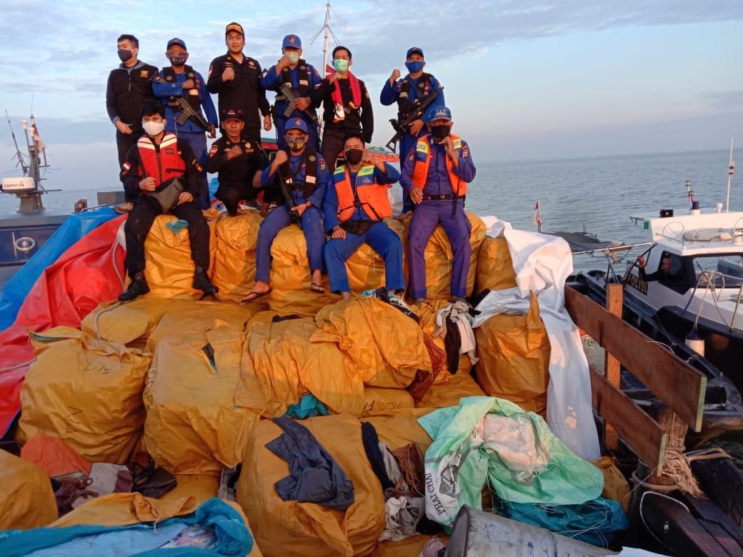 Kapal Pengangkut 500 Ballpres Monza Diamankan di Perairan Asahan