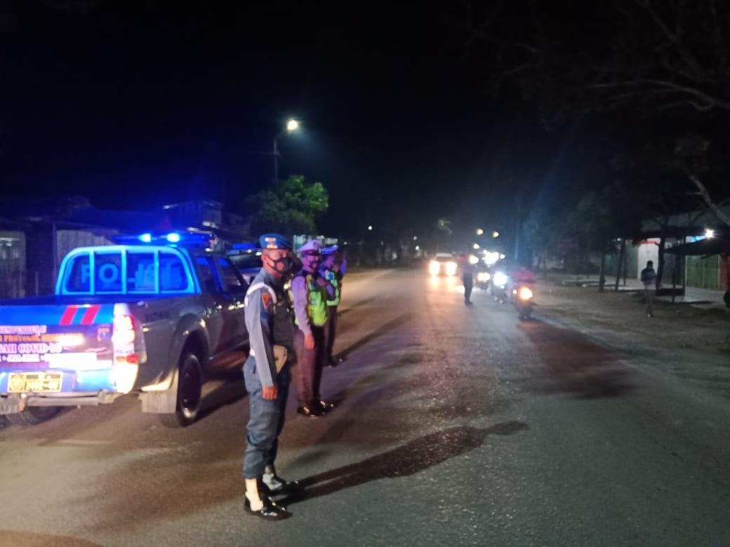 (Ignatius Siagian/taslabnews)  Suasana patroli gabungan Pemko Tanjungbalai bersama TNI/Polri di Kota Tanjungbalai.