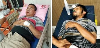 Kedua korban kecelakaan lalulintas saat dirawat di rumah sakit.