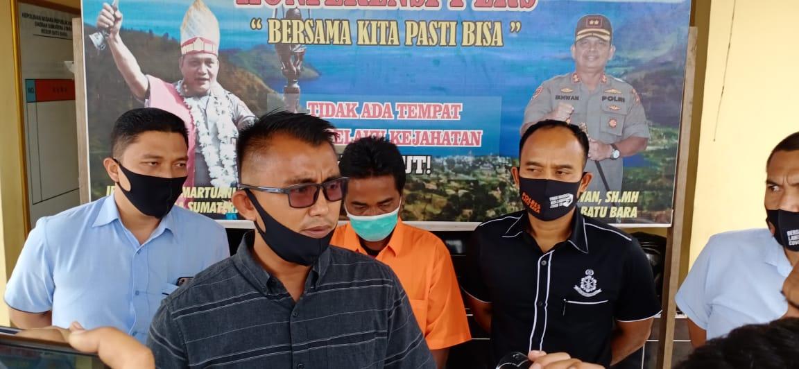 Pers rilis penangkapan kades di Batubara kasus penggelapan dana desa.