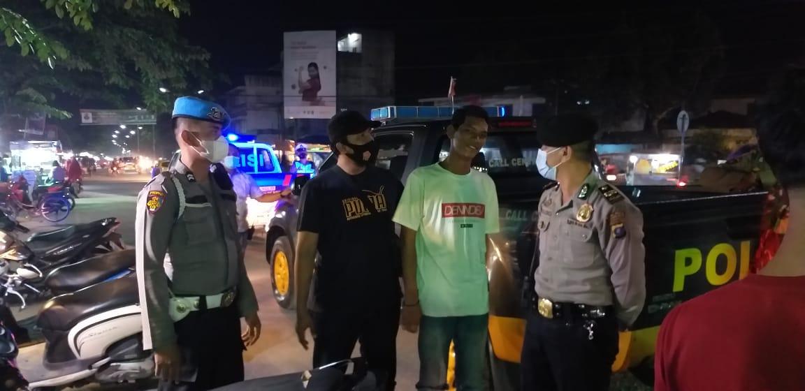 (Ignatius Siagian/taslabnews)  Suasana operasi yustisi oleh TNI/Polri di Kota Tanjungbalai, Sabtu (19/12).