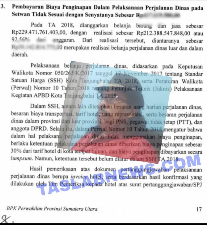 Temuan BPK atas perjalanan dinas dan penginapan di Setwan Tanjungbalai, insert Koordinator ICW Tanjungbalai Jaringan Sihotang