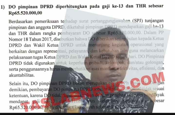 Bukti temuan BPK, Insert Muhammad Isa Ansori
