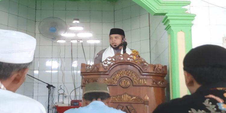 Briptu JM Munthe Ajak Umat Islam Hadiri Sholat Jum'at
