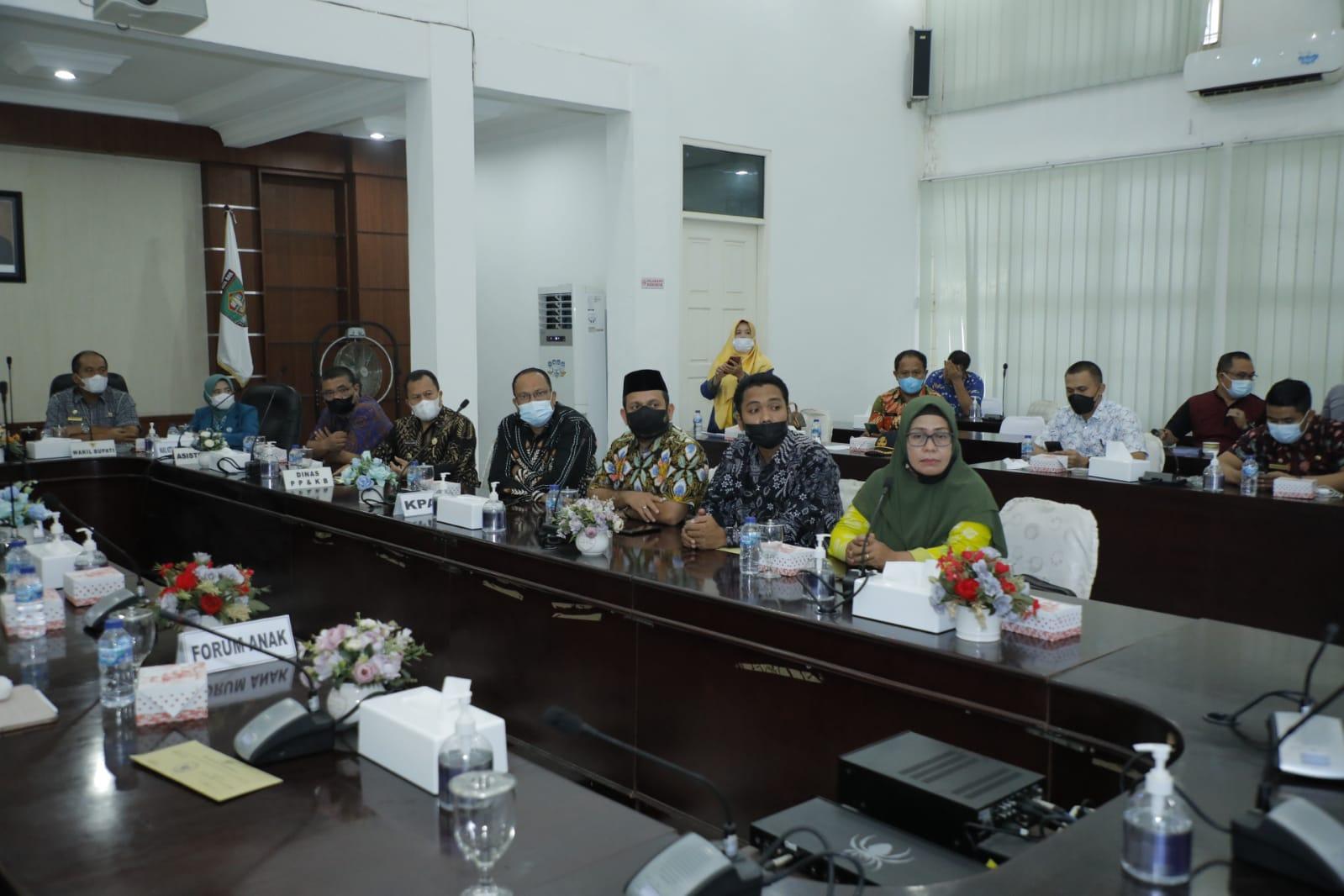 Peringati HAN, Bupati dan Wakil Bupati Asahan Dengarkan Arahan Menteri PPPA secara virtual