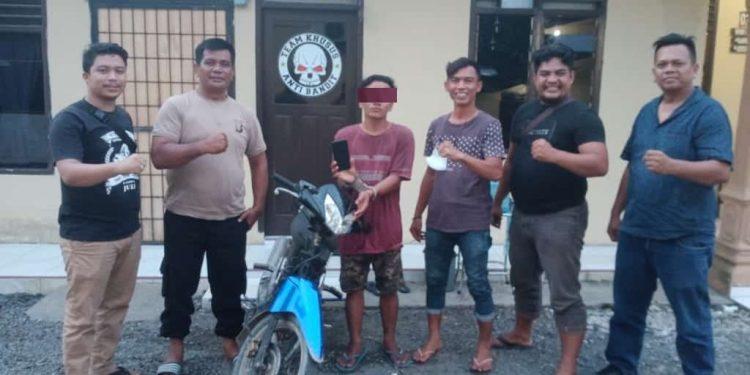 Warga Desa Rawang Baru Asahan Ini Pencuri Sepedamotor, Diamankan Polsek Pulau Raja